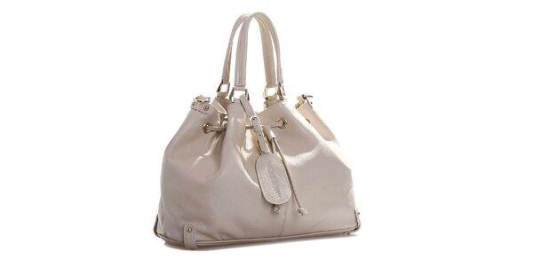 Dámská krémově bílá kožená kabelka Belle & Bloom