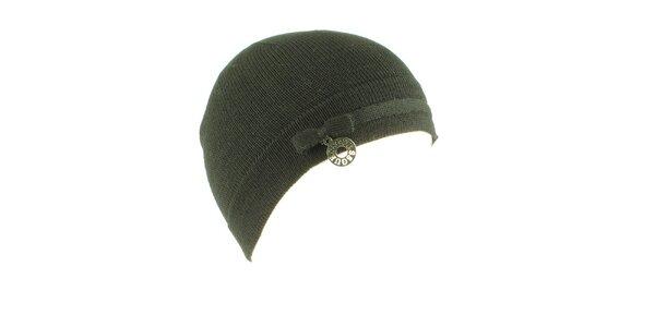 Dámská tmavě šedá vlněná čepice Guess s mašličkou