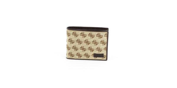 Pánská béžová peněženka Guess