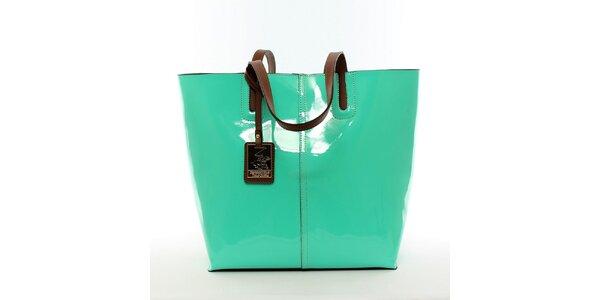 Dámská zářivě zelená kabelka s vyjímatelnou kapsou Beverly Hills Polo Club