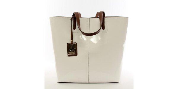 Dámská krémově bílá kabelka s vyjímatelnou kapsou Beverly Hills Polo Club
