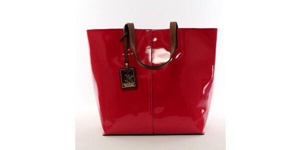 Dámská zářivě červená kabelka s vyjímatelnou kapsou Beverly Hills Polo Club