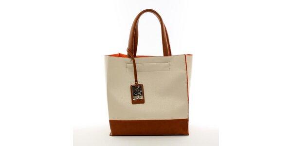 Dámská béžová kabelka s visačkou Beverly Hills Polo Club