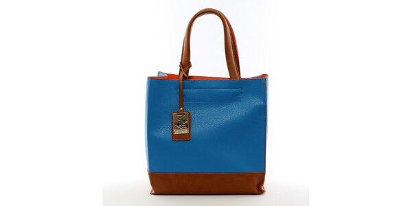 Dámská modrá kabelka s visačkou Beverly Hills Polo Club