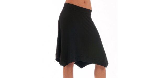 Dámská černá sukně s cípy Conquista