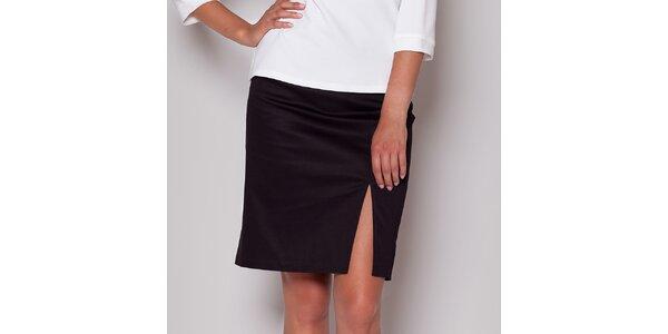 Dámská černá sukně s rozparkem Figl