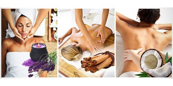 Voňavá masáž dle vašeho výběru s peelingem a zábalem