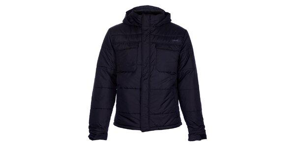 Pánská černá prošívaná zimní bunda