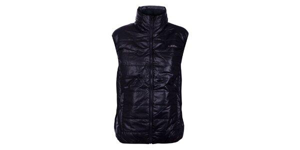 Pánská černá prošívaná vesta Loap