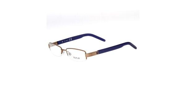 Pánské brýle s modrými stranicemi Replay