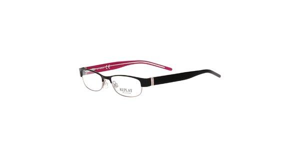 Dámské brýle s černými stranicemi Replay