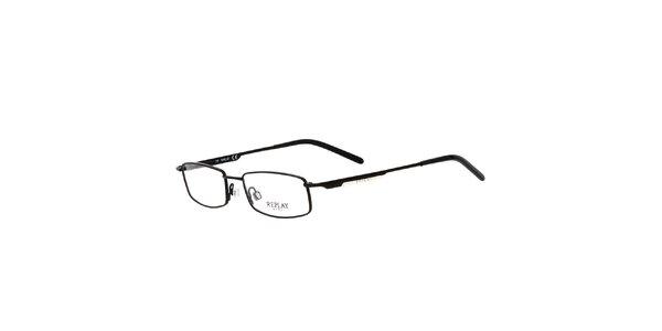 Pánské černé brýle s hranatými obroučkami Replay