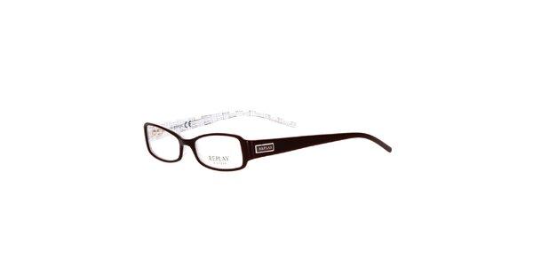 Dámské hnědé oválné brýle Replay
