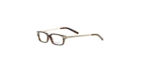 Pánské brýle s hnědým žíháním Replay