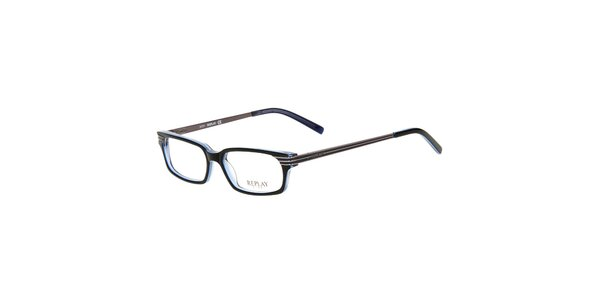 Pánské modročerné hranaté brýle Replay