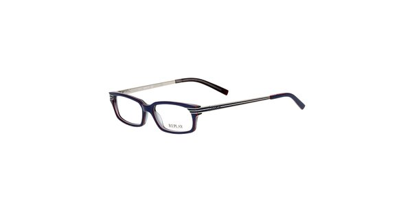 Pánské modré hranaté brýle Replay