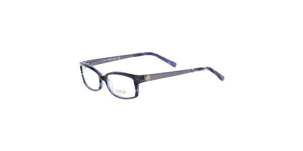 Dámské modré žíhané brýle Replay