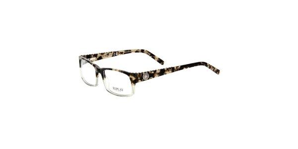 Pánské brýle s kovovými cvoky Replay