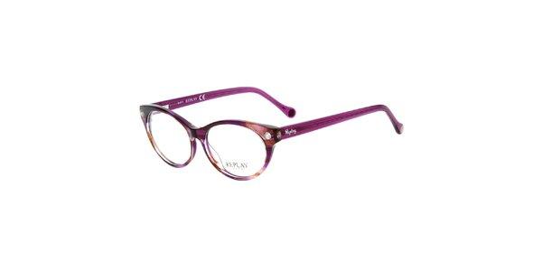 Dámské fuchsiové žíhané brýle Replay