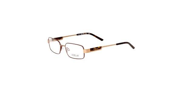 Pánské zlatohnědé brýle Replay