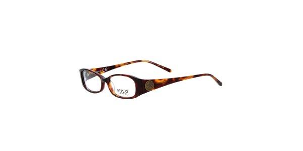 Dámské hnědé žíhané brýle Replay
