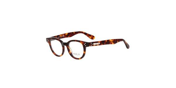 Pánské hnědě žíhané brýle Replay