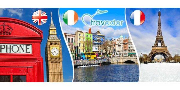 Paříž, Londýn nebo Dublin pro 1 osobu