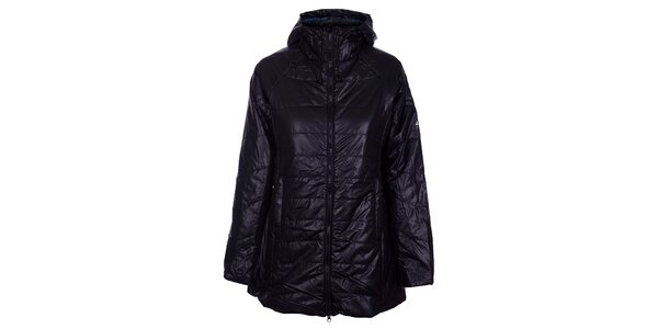 Dámský černý prošívaný kabát Loap