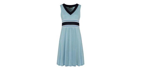 Dámské pastelově modré šaty s tmavě modrými detaily Fever