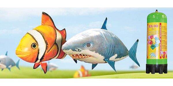Jedna nebo dvě létající ryby na ovládání i s heliovou bombou