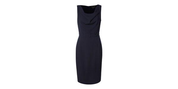 Dámské tmavě modré pouzdrové šaty Fever