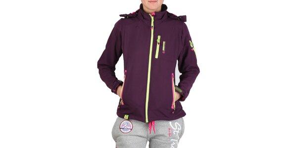 Dámská fialová bunda s barevnými zipy Geographical Norway