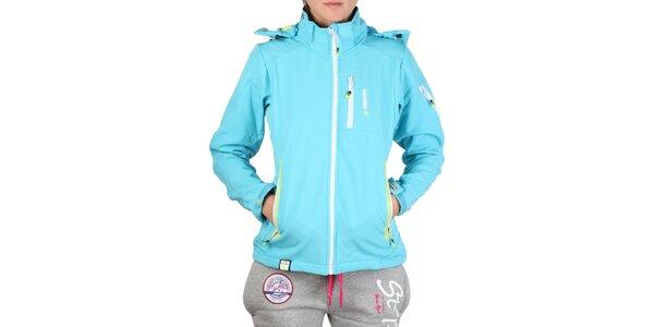 Dámská tyrkysová bunda s barevnými zipy Geographical Norway