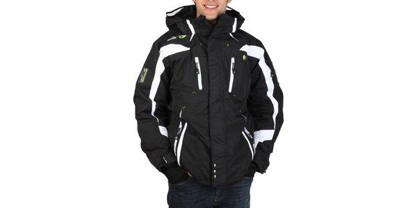 Pánská lyžařská černobílá bunda Geographical Norway