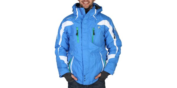 Pánská lyžařská modrá bunda s bílými prvky Geographical Norway