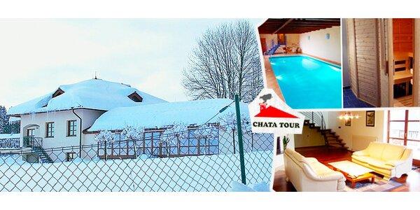Zimní prázdniny v luxusním domě v Jizerských horách