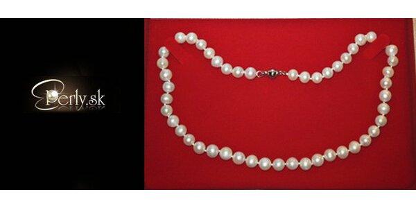 Náhrdelník z pravých perel v dárkové kazetě