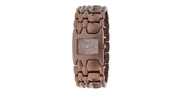 Dámské hnědé náramkové hodinky Esprit