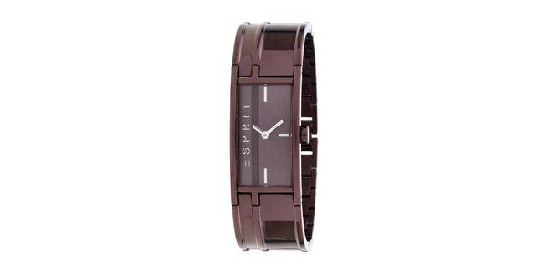 Dámské náramkové čokoládové hodinky z nerezové oceli Esprit