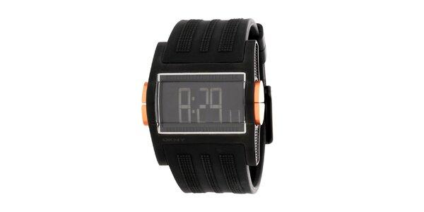 Pánské černé digitální hodinky DKNY
