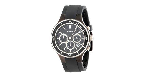 Pánské hnědé analogové hodinky DKNY