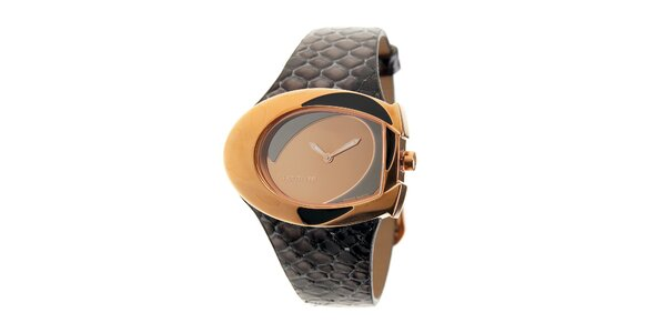 Dámské hodinky Cerruti 1881 s tmavě hnědým koženým řemínkem