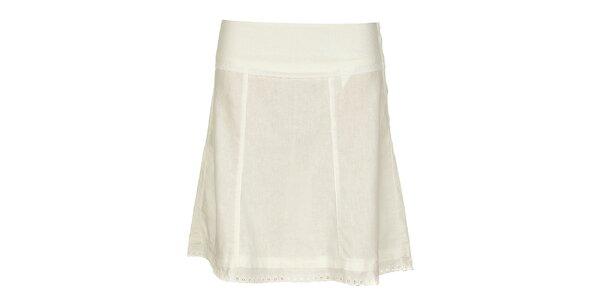 Dámská sněhobílá lněná sukně Timeout