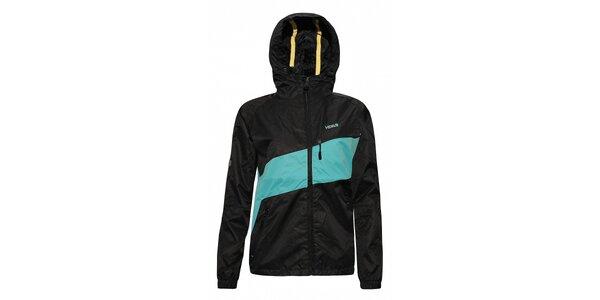 Dámská streetová jarní bunda značky Humdrum v černoazurové barevné kombinaci