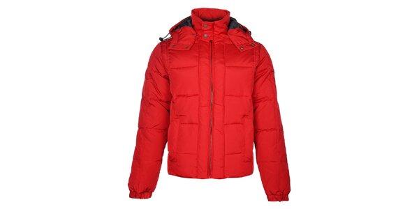 Pánská červená zimní bunda Timeout s kapucí