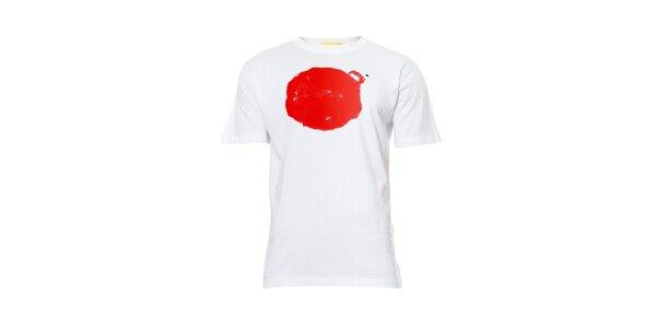 Pánské tričko s potiskem značky Humdrum v bílé barvě