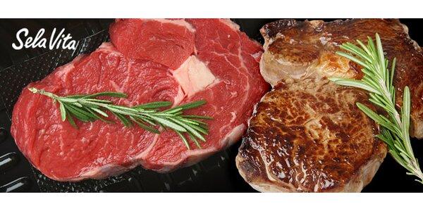 Šťavnaté uruguayské hovězí maso z vysokého roštěnce