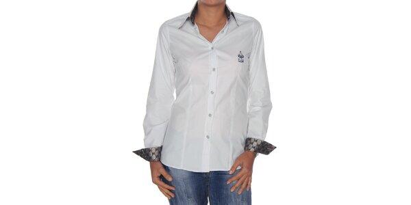 Dámská bílá košile se stříbrnými detaily Giorgio di Mare