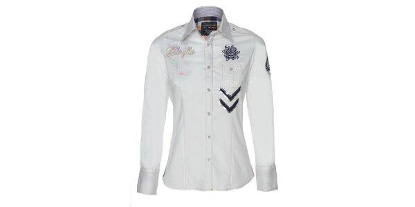 Dámská sněhobílá košile s flitry Giorgio Di Mare