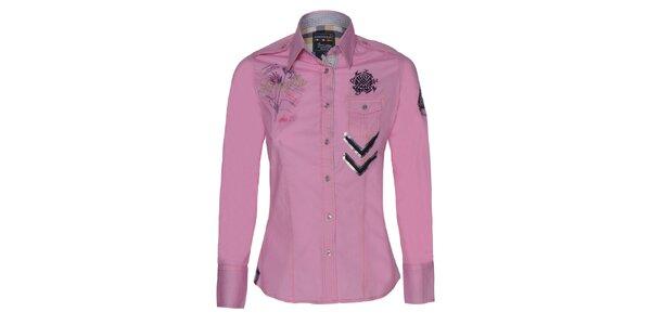 Dámská růžová košile s výšivkami Giorgio Di Mare